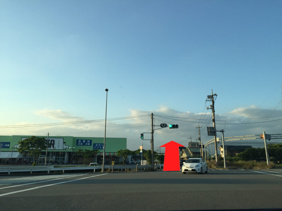 国道20号線「鷺堂」交差点からのご案内