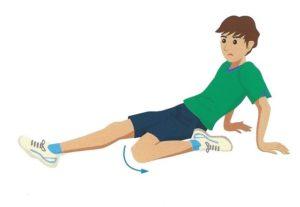 膝まわりの筋肉のストレッチ