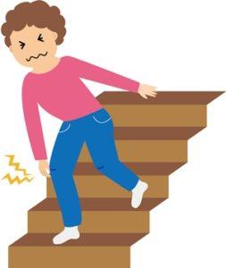 階段で膝が痛い